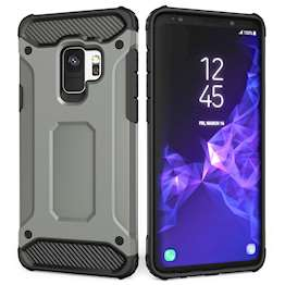 Caseflex Samsung Galaxy S9 Armoured Shockproof Carbon Case - Steel Blue
