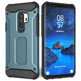 Caseflex Samsung Galaxy S9 Plus Armoured Shockproof Carbon Case - Blue