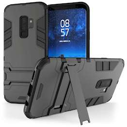 Caseflex Samsung Galaxy S9 Plus Armour Kickstand - Steel Black