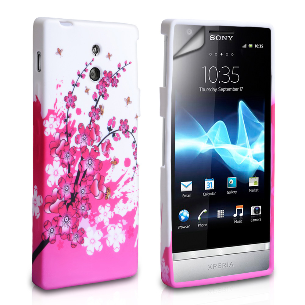 YouSave Accessories Sony Xperia P Floral Bee Silicone Gel Case