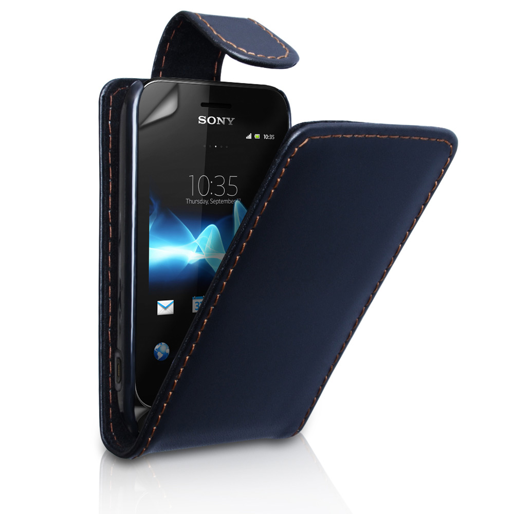 YouSave Accessories Sony Xperia Tipo Leather Effect Flip Case - Black