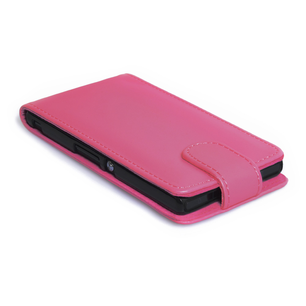 YouSave Accessories Sony Xperia Z Leather Effect Flip Case - Hot Pink