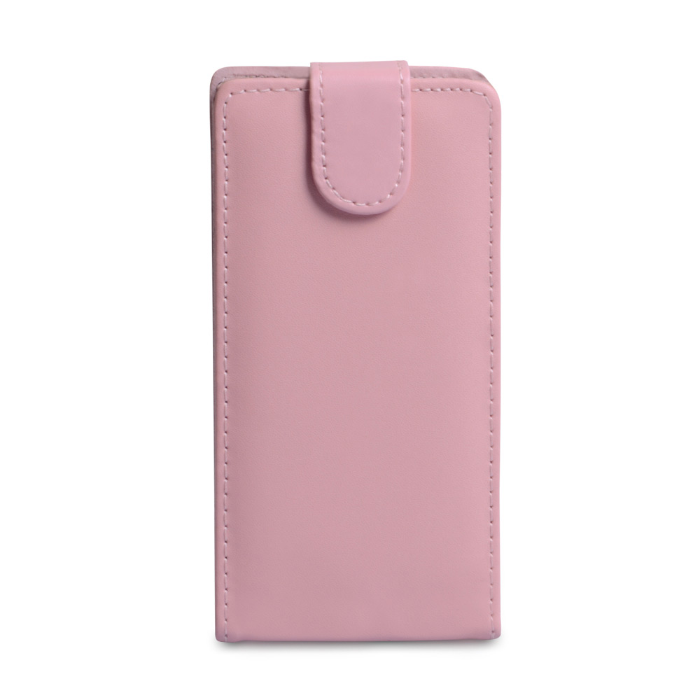 YouSave Accessories Sony Xperia Z Leather Effect Flip Case - Baby Pink