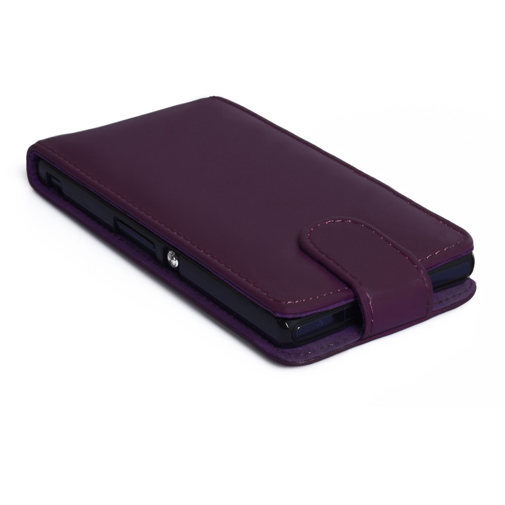 YouSave Accessories Sony Xperia Z Leather Effect Flip Case - Purple