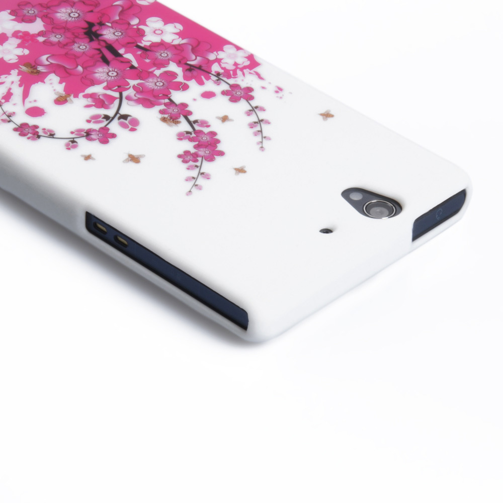 YouSave Accessories Sony Xperia Z Floral Bee Silicone Gel Case