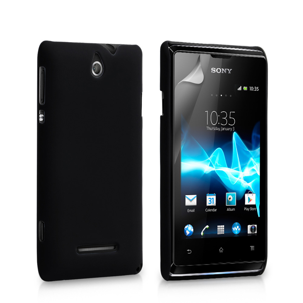 YouSave Accessories Sony Xperia E Hard Hybrid Case - Black