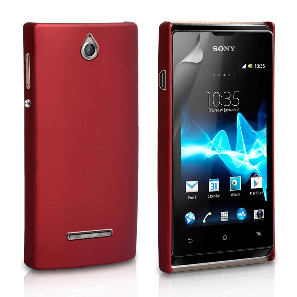 YouSave Accessories Sony Xperia E Hard Hybrid Case - Red