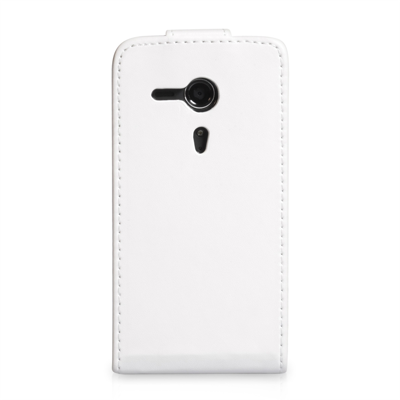 YouSave Accessories Sony Xperia SP Leather-Effect Flip Case - White