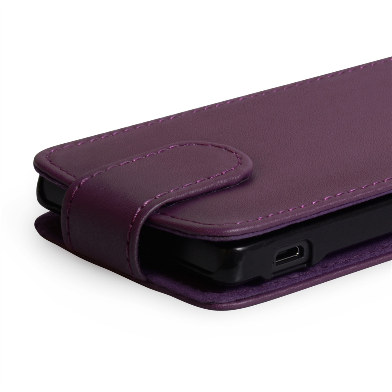 YouSave Accessories Sony Xperia SP Leather-Effect Flip Case - Purple