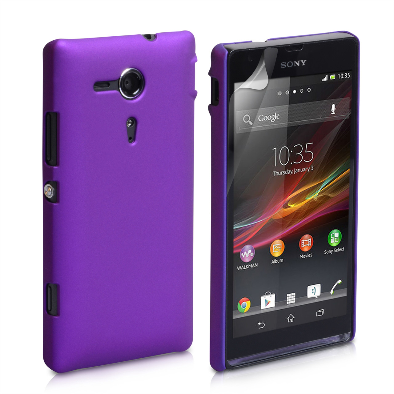 YouSave Accessories Sony Xperia SP Hard Hybrid Case - Purple