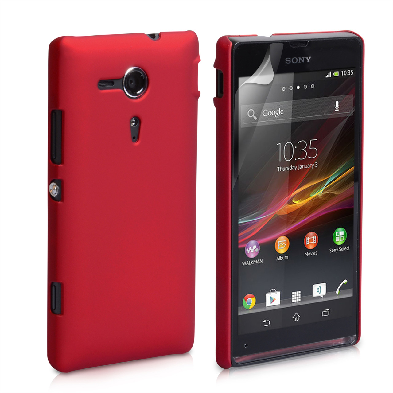 YouSave Accessories Sony Xperia SP Hard Hybrid Case - Red
