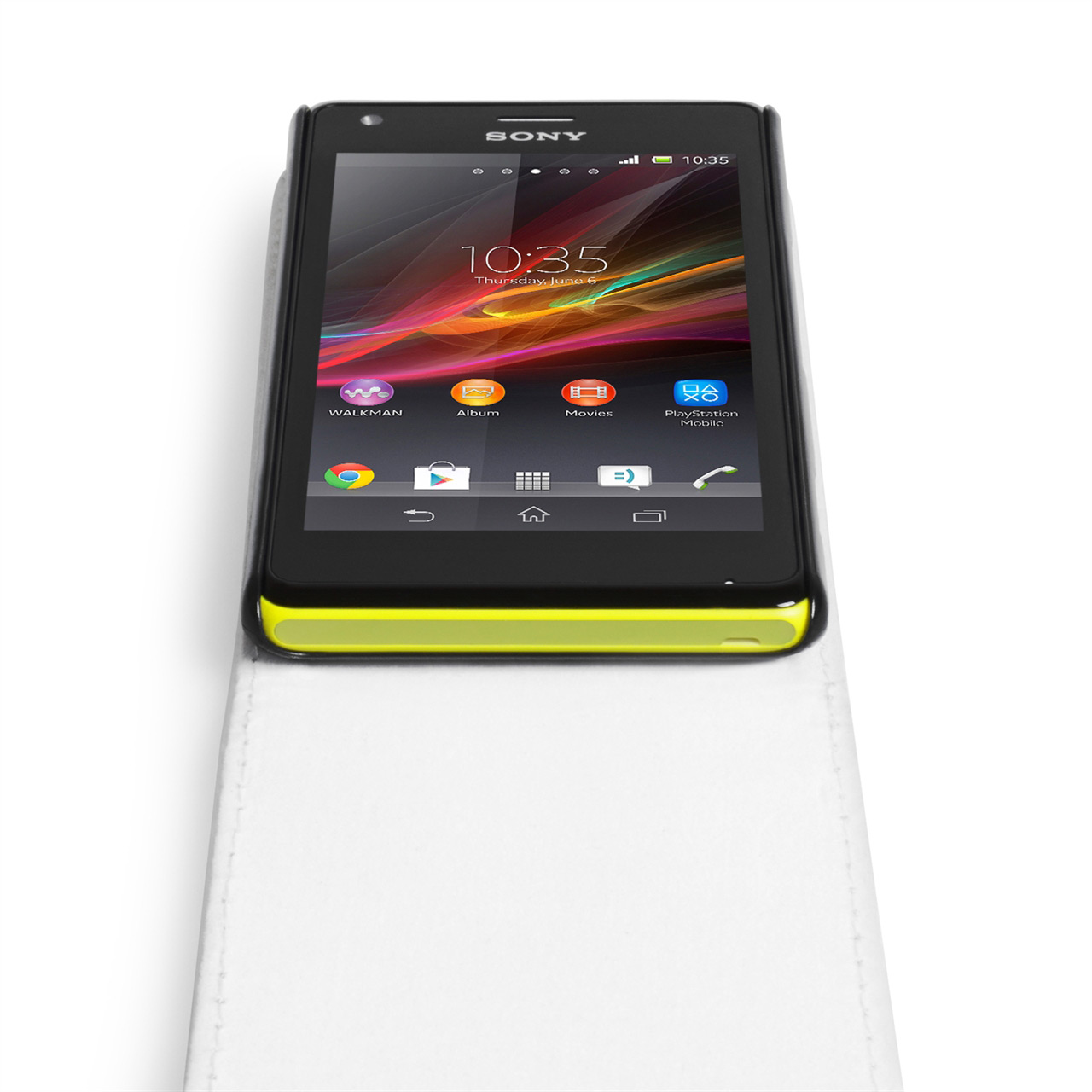 YouSave Accessories Sony Xperia M Leather Effect Flip Case - White