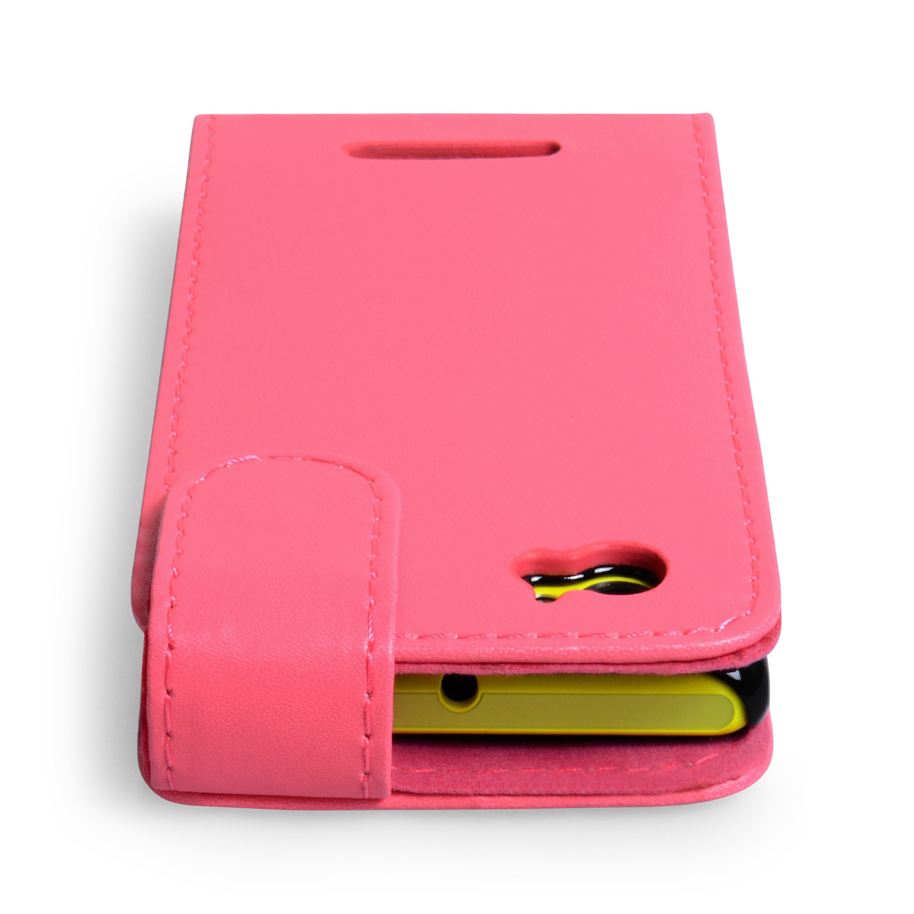 YouSave Accessories Sony Xperia M Leather Effect Flip Case - Hot Pink