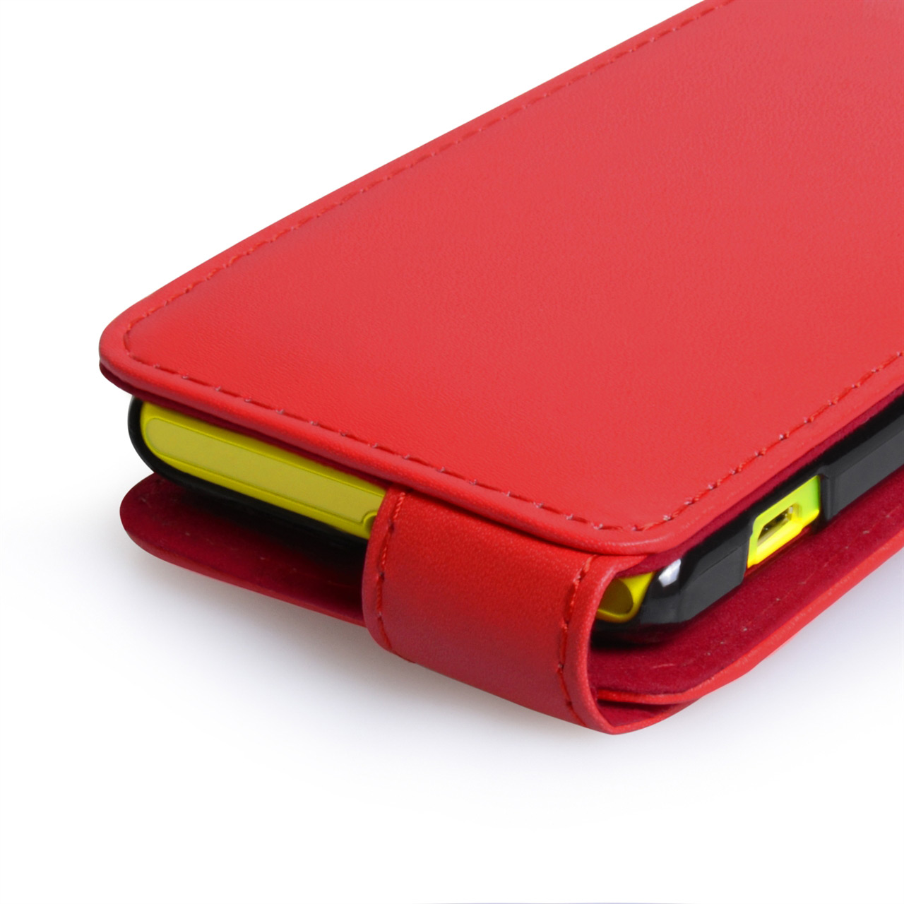 YouSave Accessories Sony Xperia M Leather Effect Flip Case - Red
