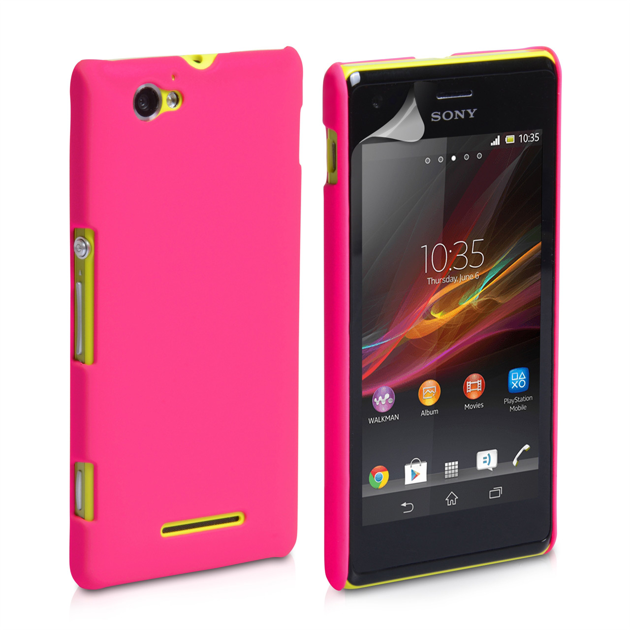 YouSave Accessories Sony Xperia M Hard Hybrid Case - Hot Pink