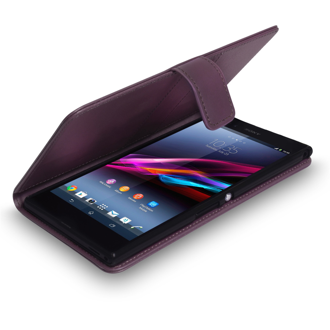 YouSave Accessories Sony Xperia Z Ultra Leather Effect Wallet - Purple