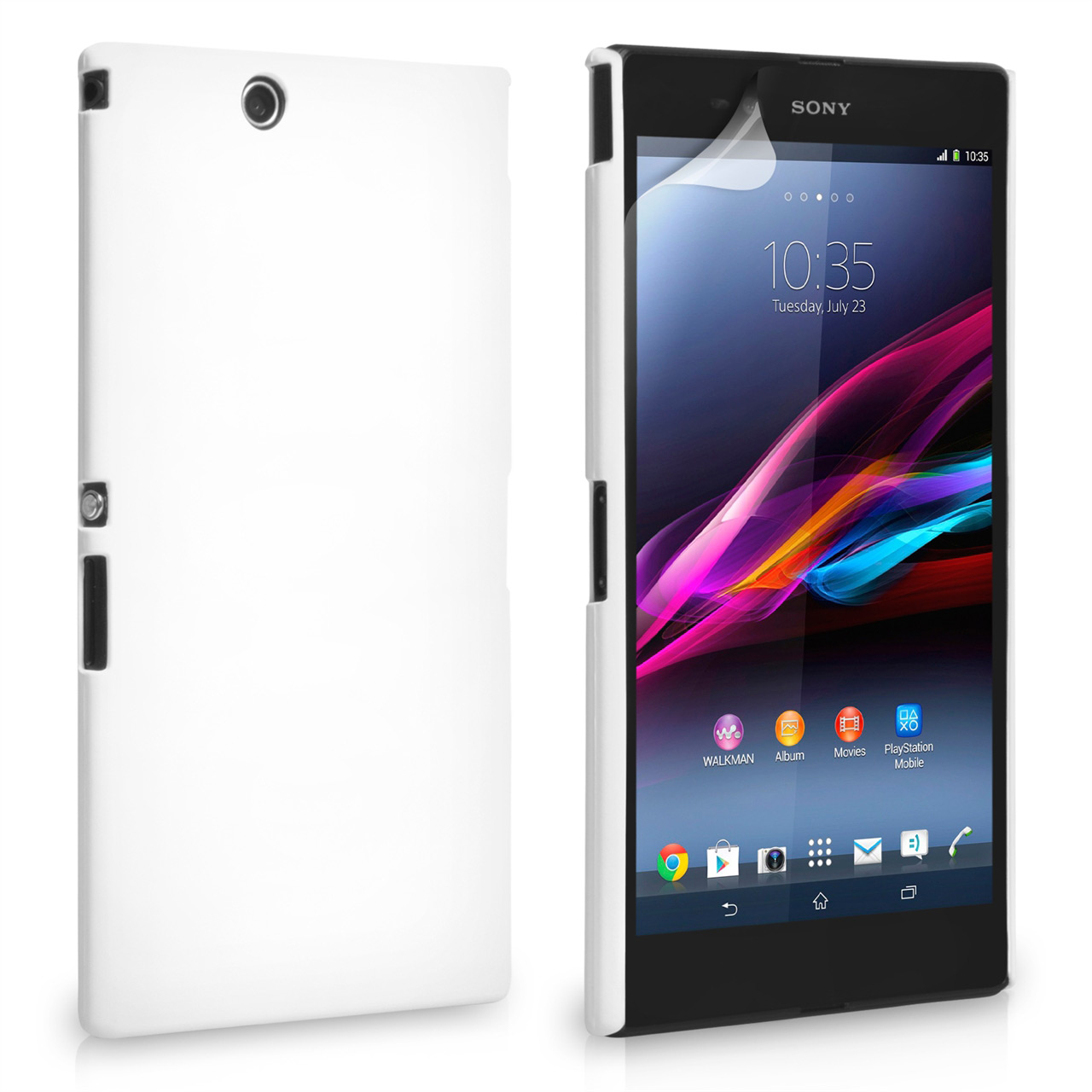 YouSave Accessories Sony Xperia Z Ultra Hard Hybrid Case - White