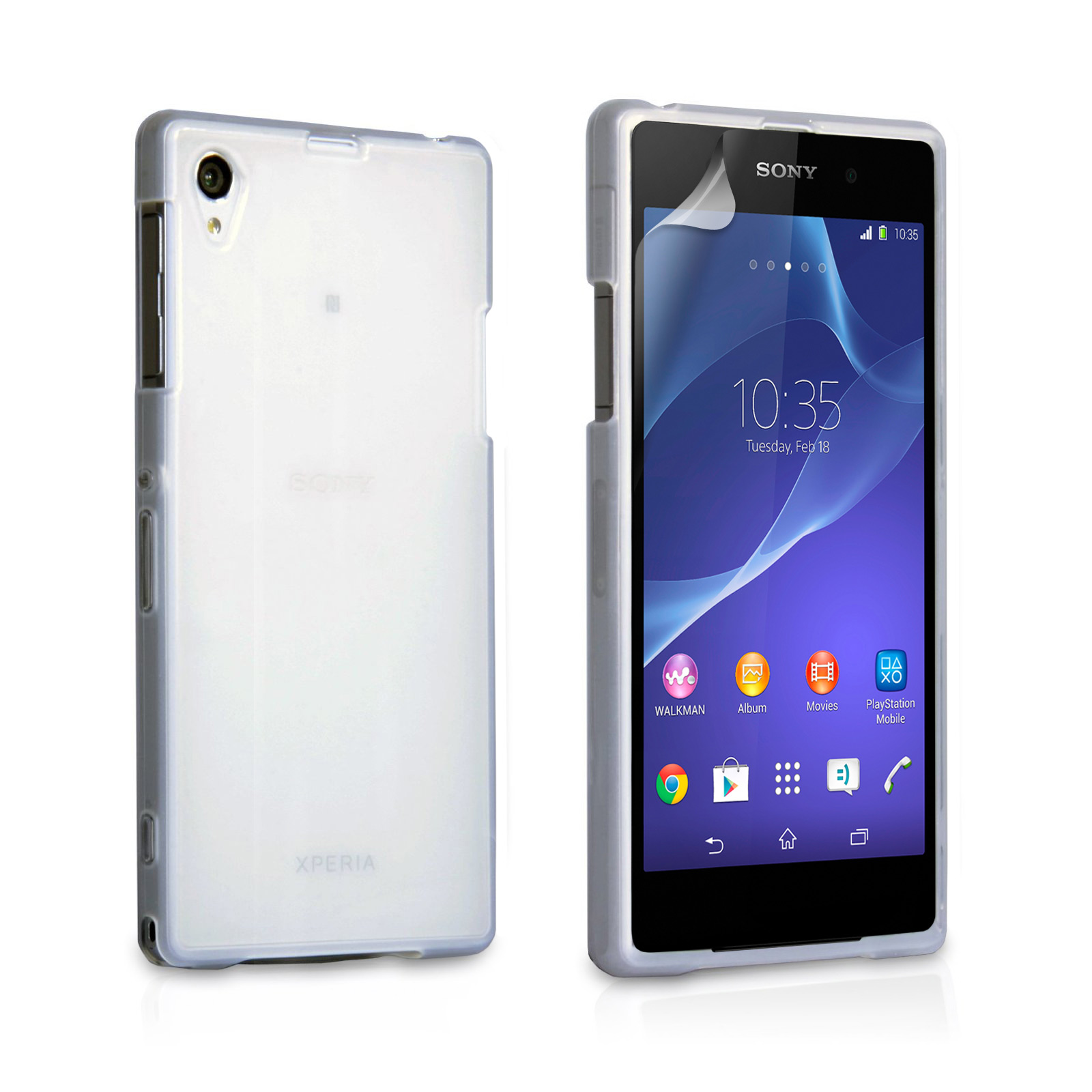 YouSave Accessories Sony Xperia Z2 Silicone Gel Case - Clear