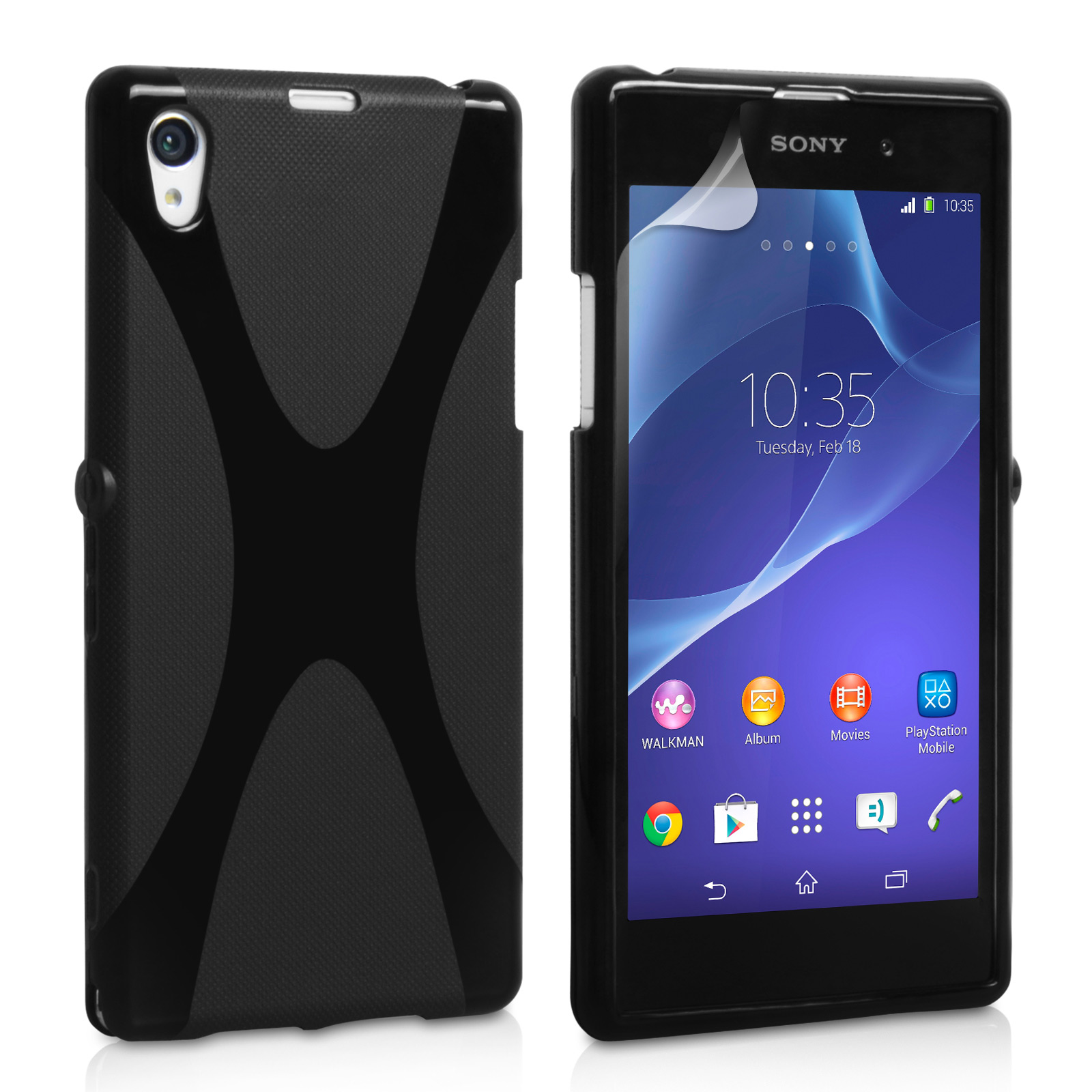 YouSave Accessories Sony Xperia Z2 Silicone Gel X-Line Case - Black