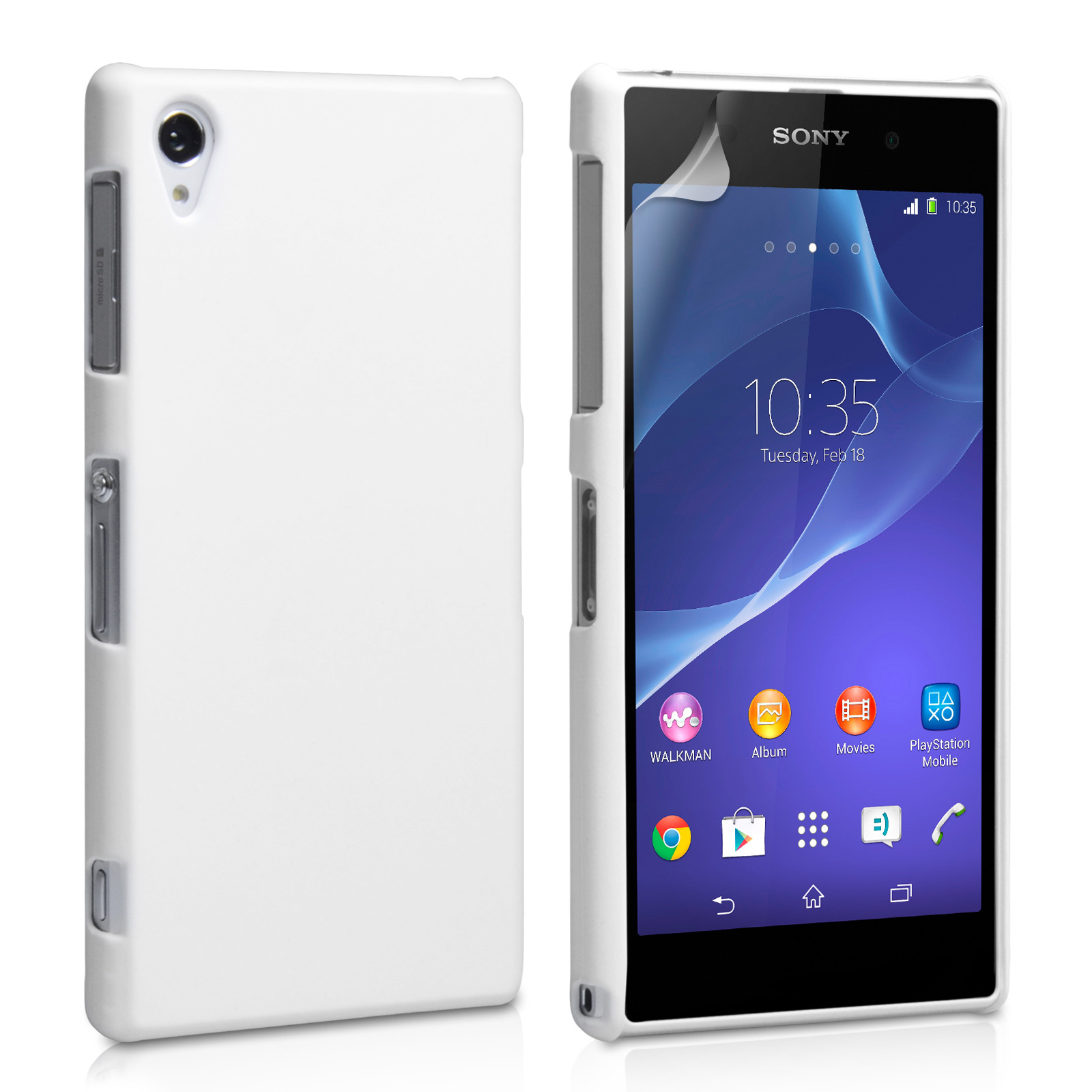YouSave Accessories Sony Xperia Z2 Hard Hybrid Case - White