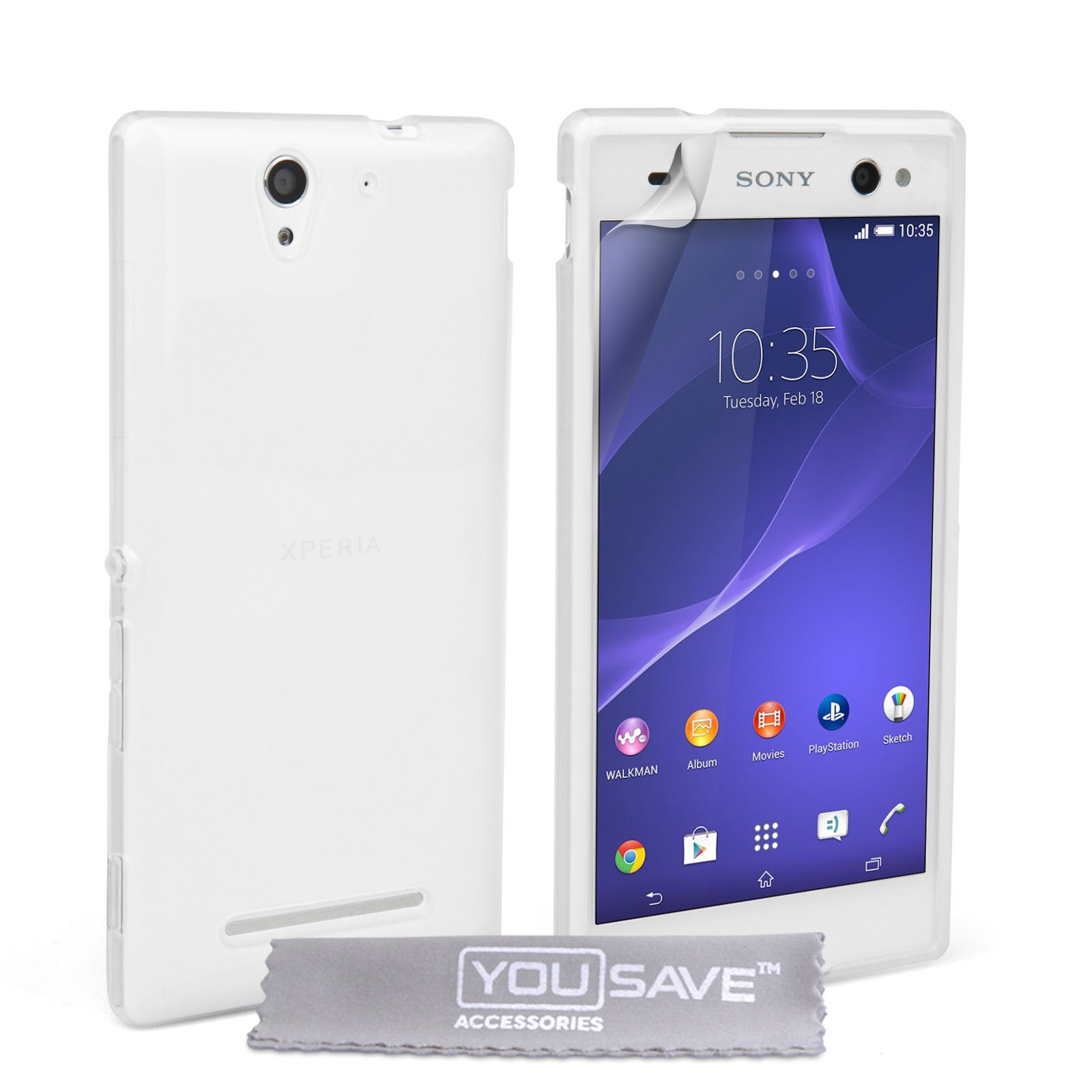 YouSave Accessories Sony Xperia C3 Silicone Gel Case - Clear