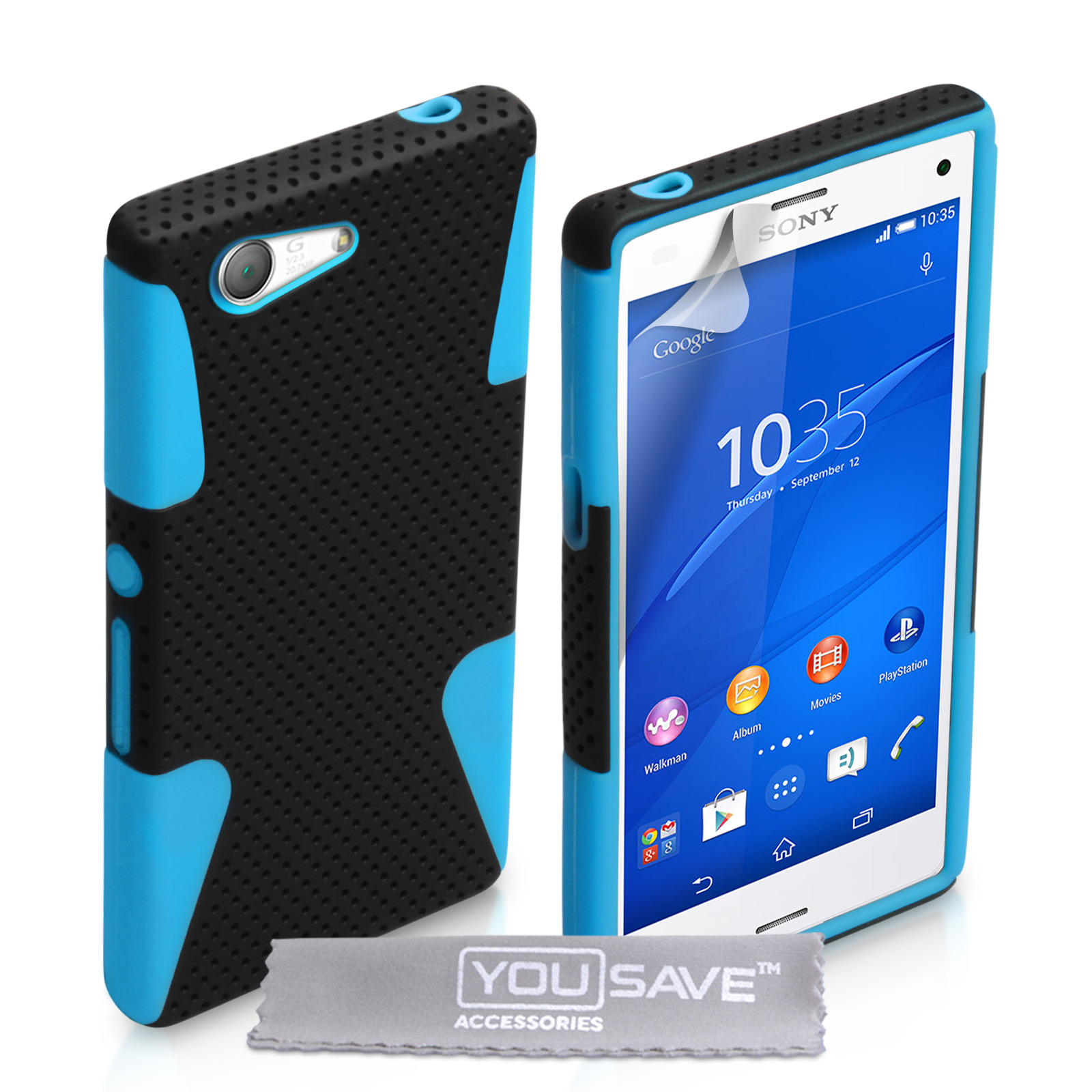 low priced 62fa6 4d89c YouSave Sony Xperia Z3 Compact Tough Mesh Combo Silicon
