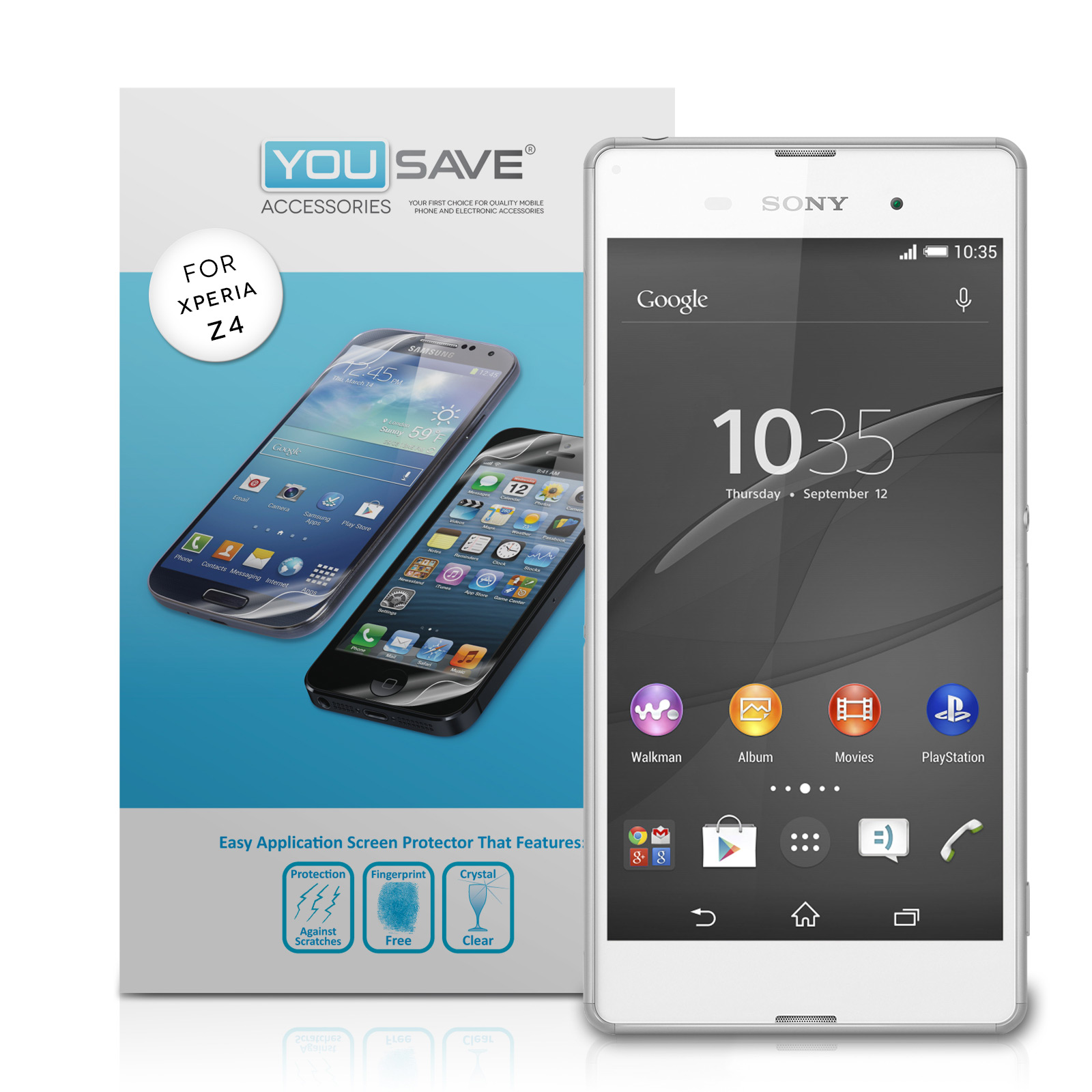 YouSave Sony Xperia Z3+ Screen Protectors x3