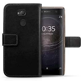Sony Xperia XA2 Ultra Real Leather Wallet - Black
