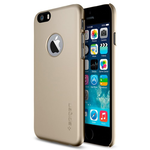 """Spigen iPhone 6 and 6s (4.7"""") Case Thin Fit A Series - Champagne Gold"""