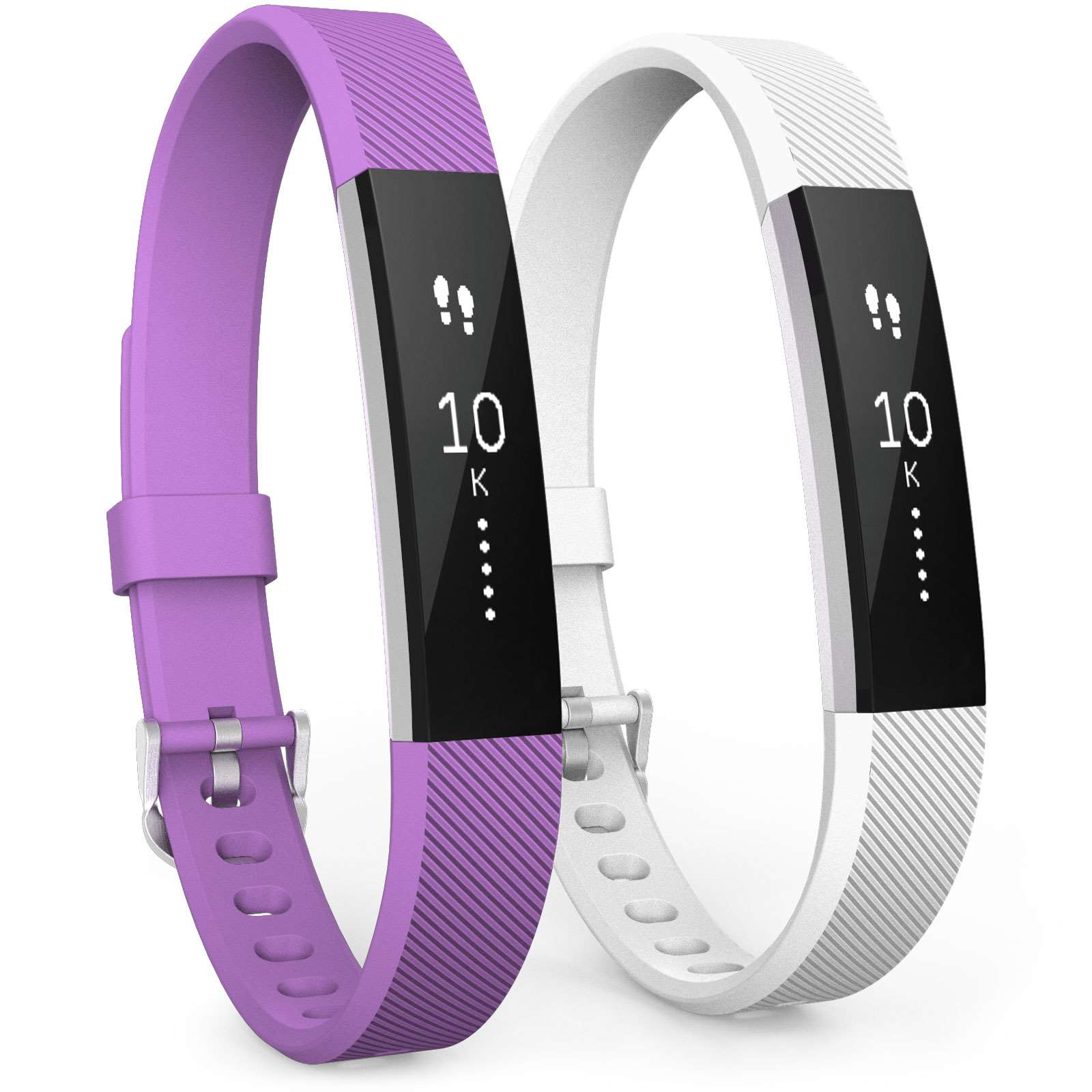 Fitbit Alta Strap 2-Pack (Small) - Violet / White