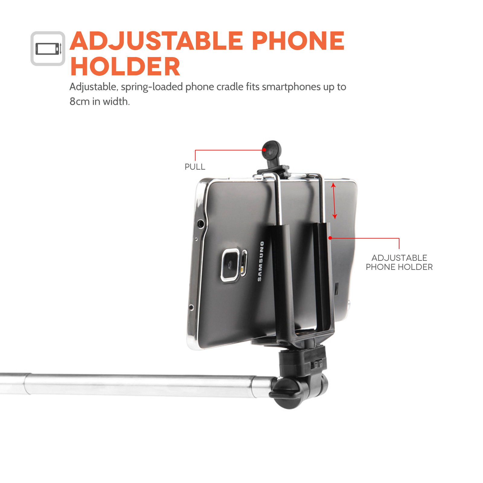 YouSave Selfie Stick for Mobile Phones with Bluetooth Remote