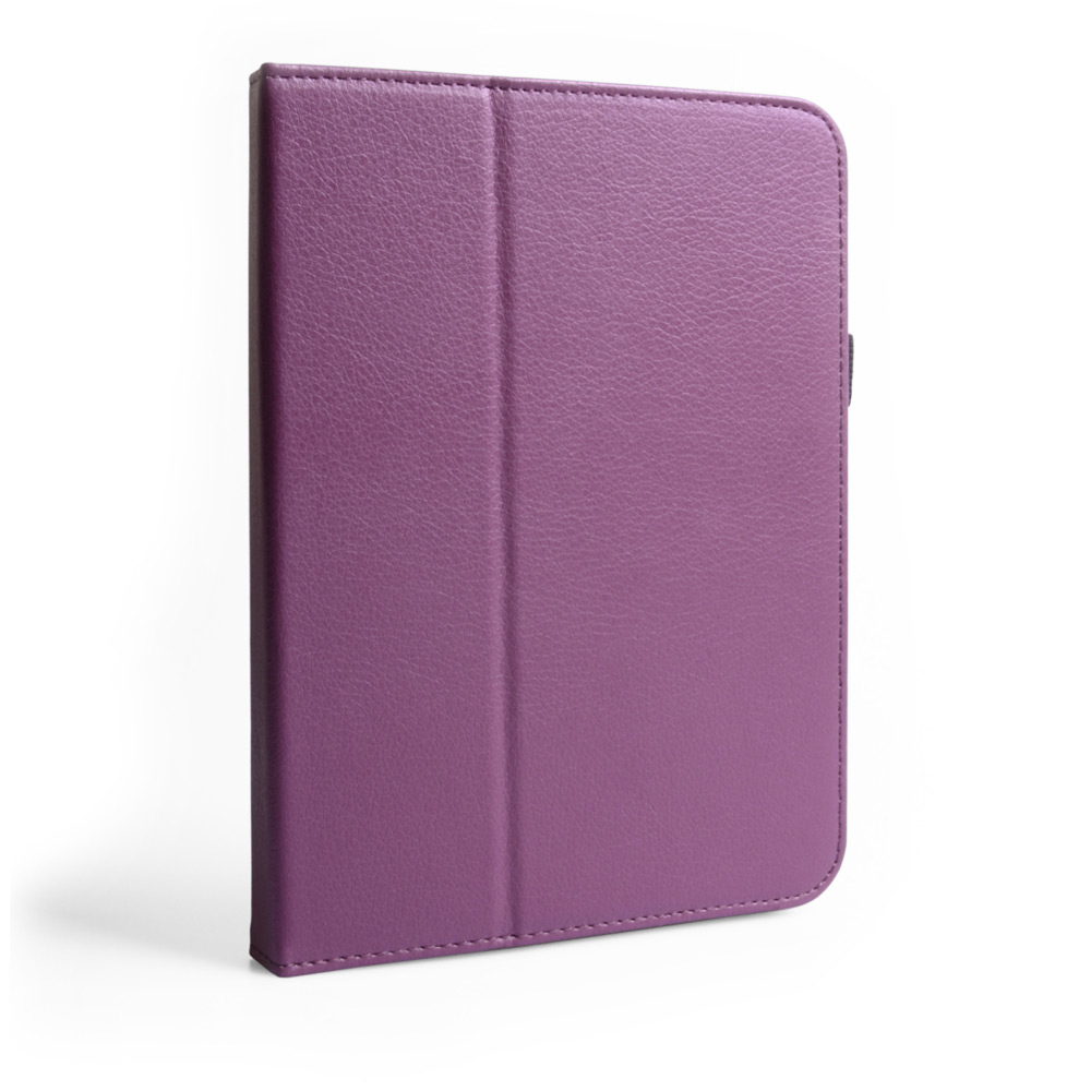 Caseflex Kindle Fire HD Textured Faux Leather Stand Case - Purple