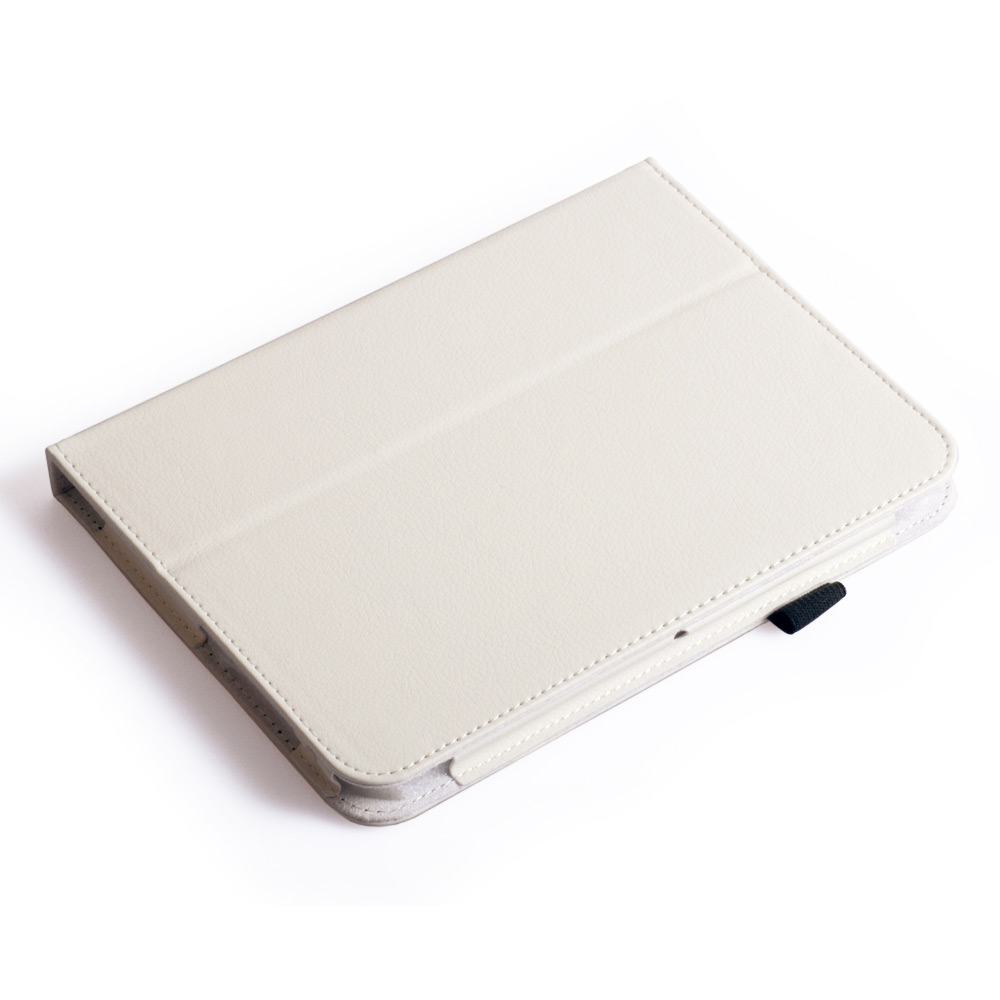 Caseflex Kindle Fire HD Textured Faux Leather Stand Case - White