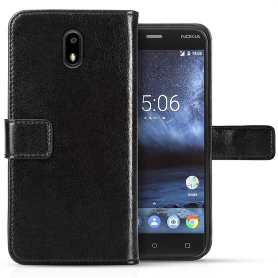 NOKIA 3 ID REAL LEATHER WALLET - BLACK