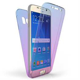 SAMSUNG GALAXY S6 FULL BODY 360 TPU GEL CASE  - BLUE & PURPLE