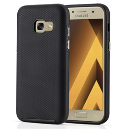SAMSUNG GALAXY A3 (2017) PC + TPU TEXTURE CASE - BLACK