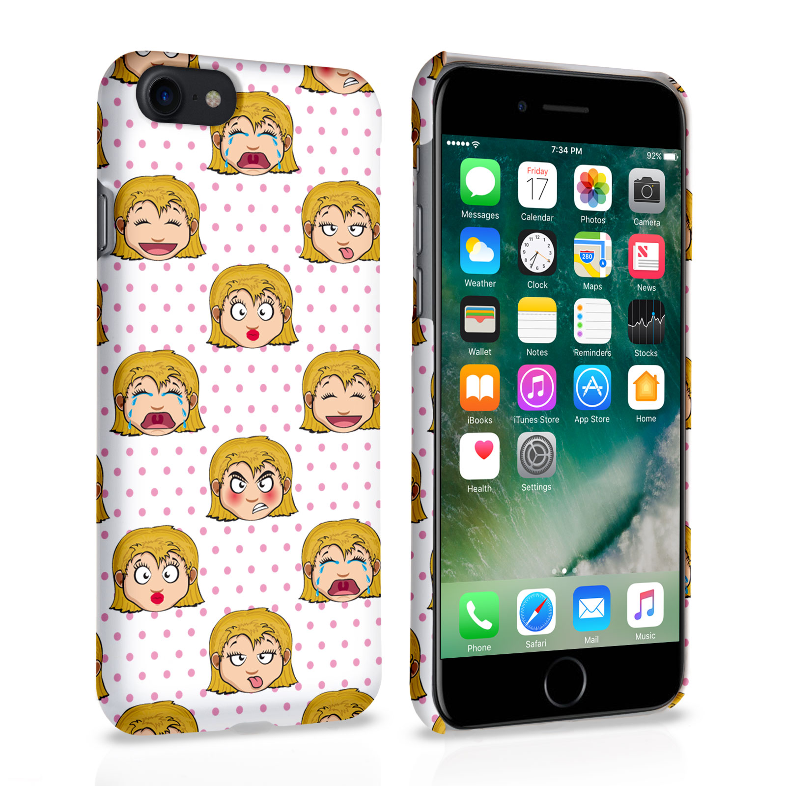 new concept f1524 6b4f4 Caseflex iPhone 7 Girly Mood Swings Case | Mobile Madhouse