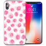 Apple iPhone X  Pink Roses TPU Gel Case - Pink