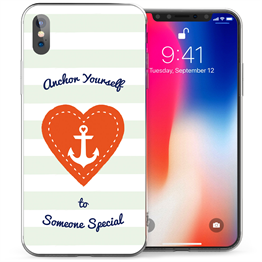 Apple iPhone X Anchor Someone Special Love Heart TPU Gel Case