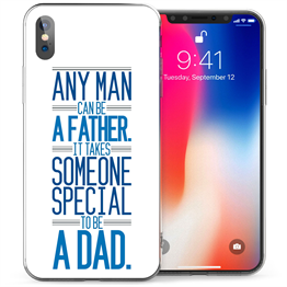 Apple iPhone X Special Dad Quote TPU Gel Case - Blue
