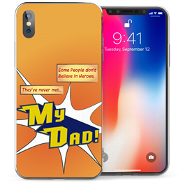 Apple iPhone X Dad Heroes TPU Gel Case - Orange