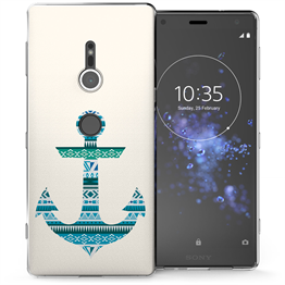 Sony Xperia XZ2 Aztec Anchor TPU Gel Case - Blue