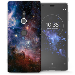 Sony Xperia XZ2 Blue Constellation TPU Gel Case