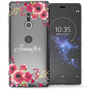 Sony Xperia XZ2 Clear Floral Personalised TPU Gel Case