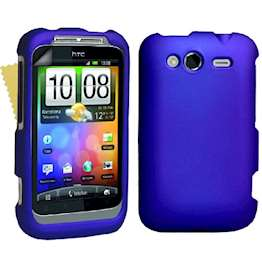 Yousave Accessories HTC Wildfire S Hybrid Blue Case