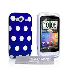 yousave-accessories-htc-wildfire-s-polka-dot-blue-case