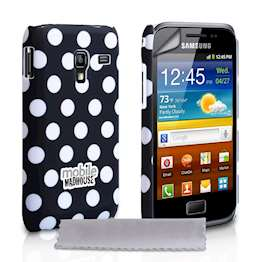 Yousave Accessories Samsung Galaxy Ace Plus Polka Dot Black Case