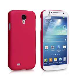 YouSave Accessories Samsung Galaxy S4 Hard Hybrid Case - Hot Pink