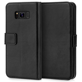 Caseflex Samsung Galaxy S8 Plus Real Leather I D Wallet Case - Black