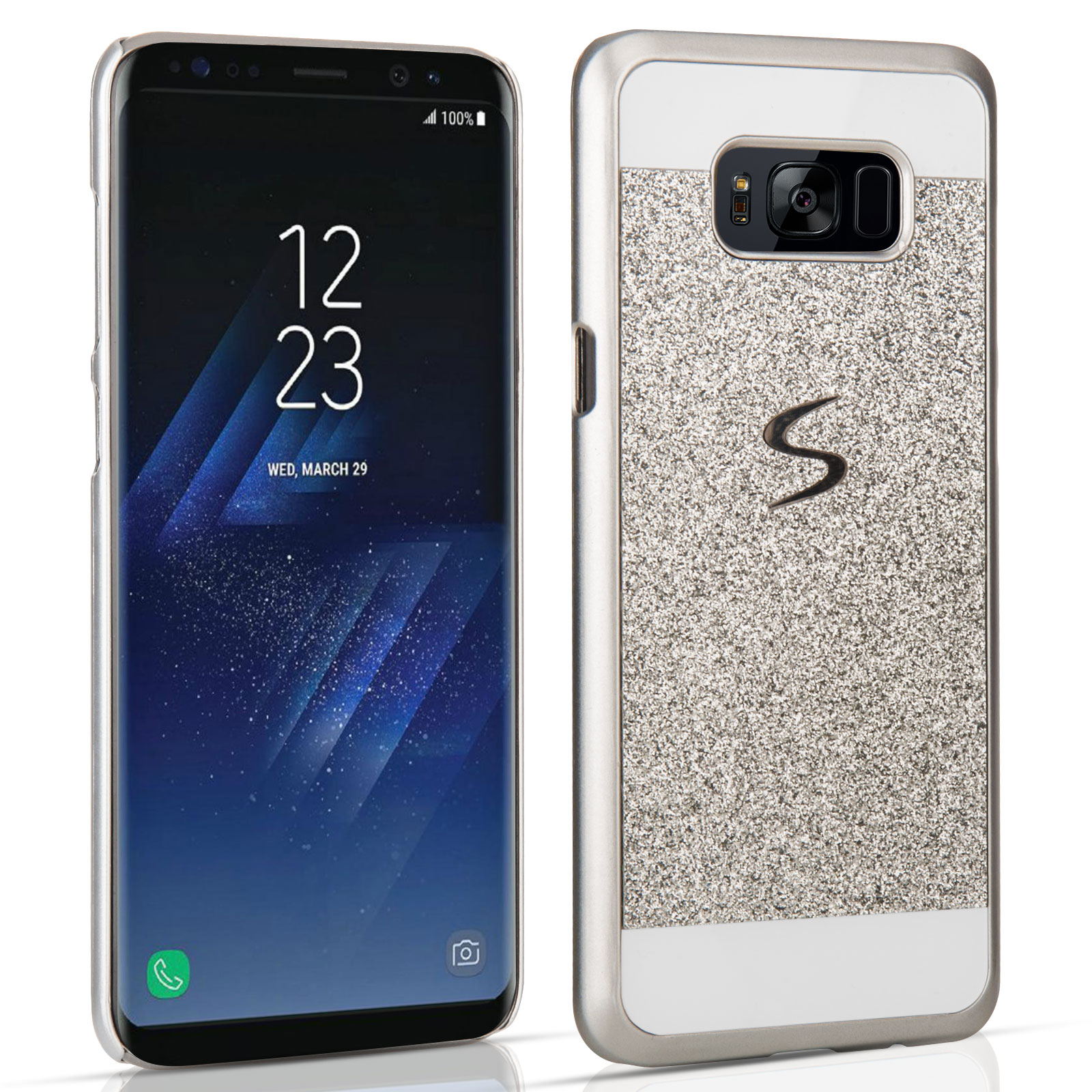 samsung galaxy s8 flash diamond case silver at mobile. Black Bedroom Furniture Sets. Home Design Ideas